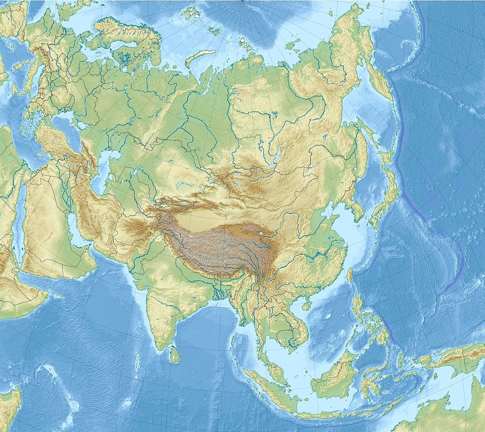 Neandertal is located in Asia