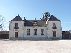 Aubigny-en-Plaine - The Town Hall and School