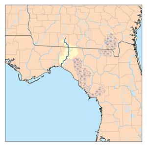 Aucilla River - Image: Aucillarivermap