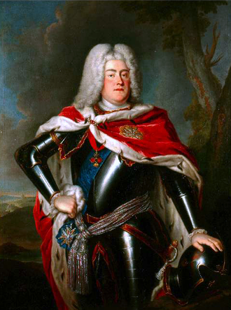 Augustus III of Poland - Portrait by Louis de Silvestre