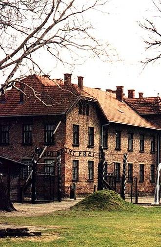 Resistance movement in Auschwitz - Image: Auschwitz I Entrance