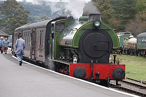 Embsay and Bolton Abbey Steam Railway - No.1 (Monkton) at Bolton Abbey. 19 October 2008.