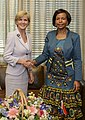 Australia's Foreign Minister Julie Bishop meets with South Africa's Minister of International Relations and Cooperation the Hon Maite Nkoana-Mashabane.jpg
