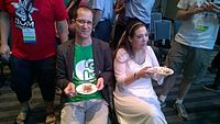 Avner and Darya's wiki Wedding at Wikimania by ovedc 39.jpg