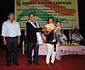 Award distributed to winner of healthy baby competition, at the closing day of Bharat Nirman Public Information Campaign organized by Press Information Bureau Imphal, at Khangshim, Chandel District of Manipur.jpg