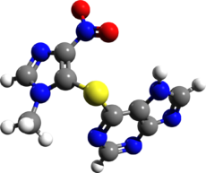 Azathioprine 3d structure.png