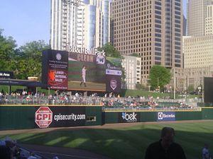 BB&T Ballpark (Charlotte) - Image: BB&T Ballpark scoreboard