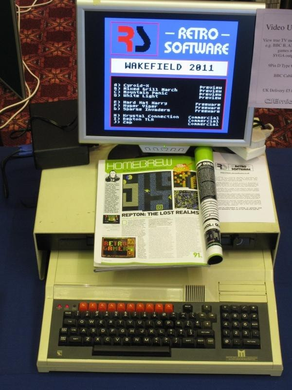BBC Master with Retro Software games