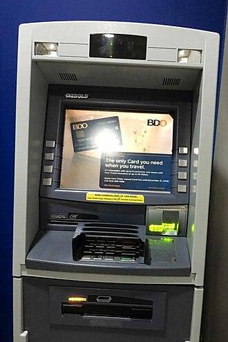 Banco de Oro - An ATM inside BDO Los Baños Branch.