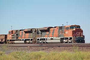 Pilbara Railways - BHP Billiton EMD SD70ACes in April 2012