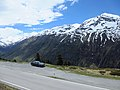 BMW E39 523i high altitude road in Switzerland.JPG