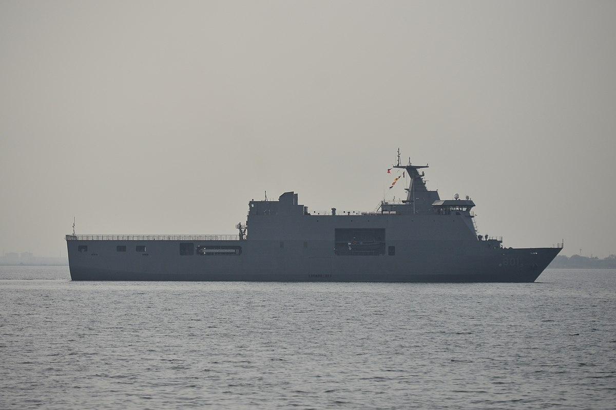 BRP Tarlac off Sangley Point, Cavite.jpg