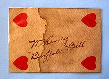 Buffalo bill cody resource learn about share and discuss buffalo life in cody wyoming playing card signed by buffalo bill fandeluxe Image collections