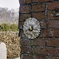 Baarhuisje, voorgevel met rozetanker, schadebeeld van ondeskundig hersteld voegwerk - Leek - 20367651 - RCE.jpg
