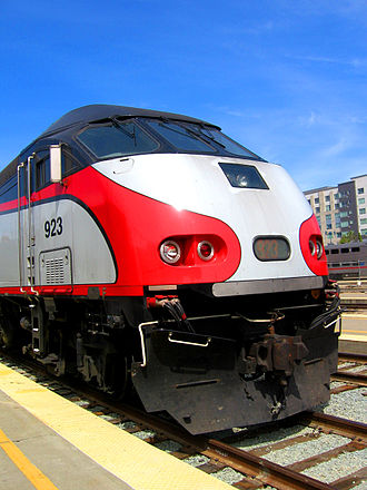 Caltrain - Baby Bullet service was originally provided by MPI MP36PH-3C locomotives, although currently both types of equipment are used.