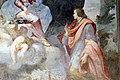 Badia fiorentina, chiostro degli aranci, affresco con san benedetto, forse della scuola di Agostino Veracini, xviii secolo 03.jpg