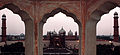 Badshahi mosque view from a minaret of fort.jpg