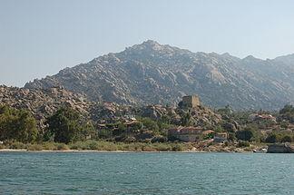 Der Bafa-See mit Herakleia am Latmos