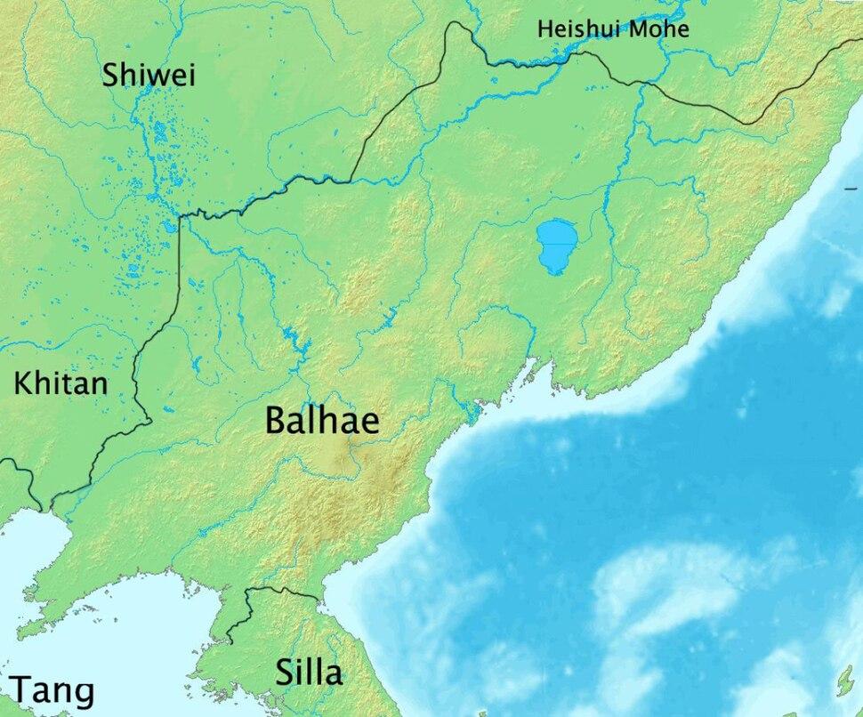Balhae-Territory in 830