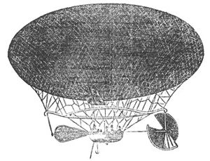"The Balloon-Hoax - Illustration of ""The Victoria"" that accompanied the news article."
