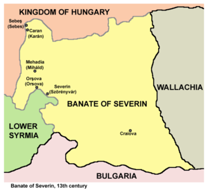 Banate of Severin - Map of the Banate of Severin