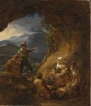 Bandits Entering a Shepherd's Dwelling (Alexander Lauréus) - Nationalmuseum - 17992.tif