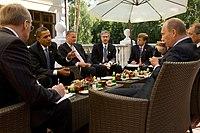 Barack Obama and Prime Minister Vladimir Putin