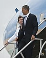 Barack Obama arrives at Kennedy Space Center - 201004150002HQ (cropped).jpg