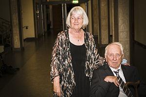 Tomas Tranströmer - Tranströmer and Barbro Lindgren at the 2014 Astrid Lindgren Memorial Award