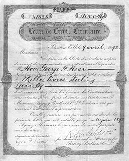 Circular letter of credit