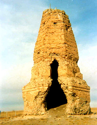 Architecture of Mongolia - Stupa in the Kidan city of Bars-Hot
