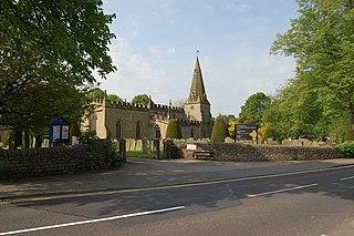 Baslow Village in Derbyshire, England
