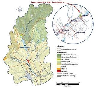Saint-Charles River - Saint-Charles River's drainage basin