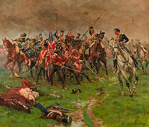 John Colborne, 1st Baron Seaton - Destruction of Colborne's brigade during the Battle of Albuera, painted by William Barnes Wollen.