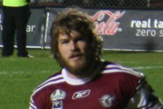 David Williams (rugby league) - Williams playing for Manly