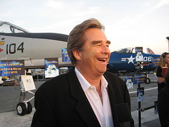 Beau Bridges - Beau Bridges on USS Midway Museum flight deck to promote Stargate: Continuum, July 2008