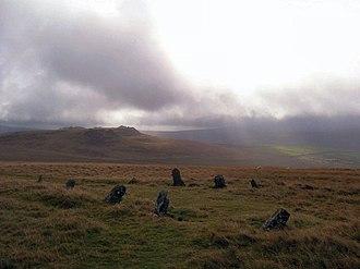 Preseli Hills - Bedd Arthur standing stones