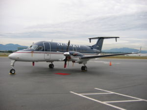 Beechcraft 1900 - A Sunwest Aviation Beechcraft 1900D at Vancouver International Airport
