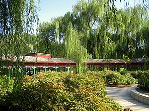 Beijing Zoo - A corridor at the Beijing Zoo