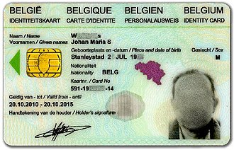 National identity cards in the European Economic Area - Image: Belgium ID 2010 (dutch)