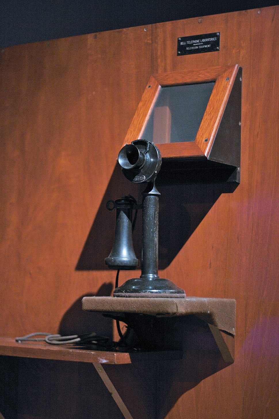 Bell Labs videophone prototype (1927), front view, MoMI