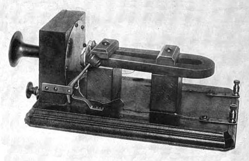 "Alexander Graham Bell's ""large box"" telephone, 1876"