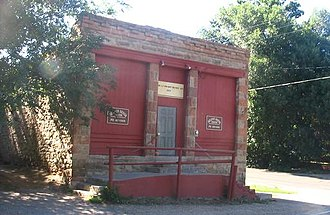 Bellvue, Colorado - The old Bellvue General Store, now the meeting house for Cache la Poudre Grange, Chapter 456 and a community center.