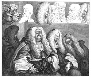 The Bench (Hogarth) - The second state, unfinished at the time of Hogarth's death.