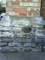 Benchmark on wall pier at junction of Hobson Road and Banbury Road - geograph.org.uk - 2017091.jpg