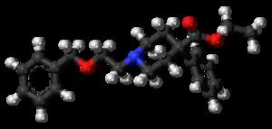 Benzethidine - Image: Benzethidine 3D ball