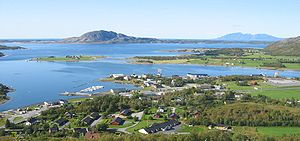 Nordland - The majority of the population is located at the Strandflaten lowland. Berg in Sømna.