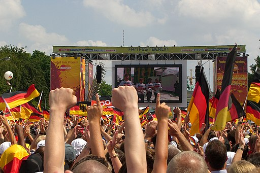 Berlin-Fanmeile am Finaltag