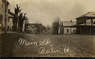 Berlin, Holmes County, Ohio - Berlin circa 1909