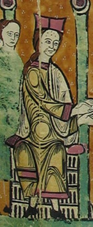 Bernard II, Count of Besalú - Bernard depicted in the Liber feudorum maior